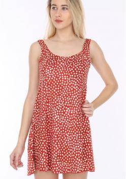 Puantiyeli Elbise Mayo Hmm34