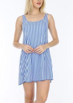 Kare Desenli Elbise Mayo Hmm26