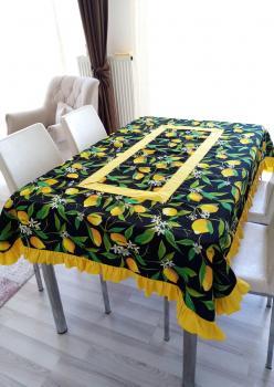 Özel Tasarım Limon Desen Masaörtüsü