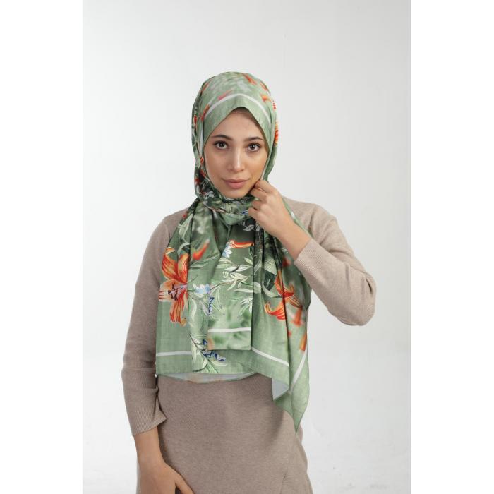 Yeşil Lilyum Şal