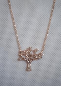 Ce-Ka Zirkon Taşlı Hayat Ağacı Bayan Kolye