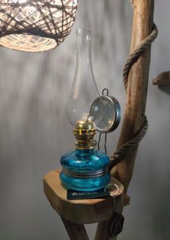 Nostalji Klasik Gaz Lambası Mavi