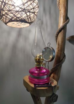 Nostalji Klasik Gaz Lambası Pembe