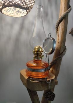 Nostalji Klasik Gaz Lambası Turuncu