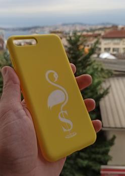 FLAMİNGO BASKILI TELEFON KILIFI