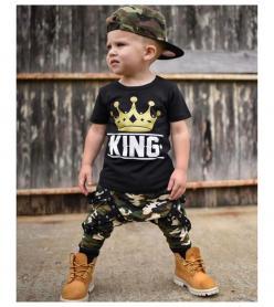 King Kamuflaj Erkek cocuk takım