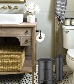 The Mia Çöp Kovası Banyo 5 Lt - Siyah