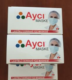Lastikli Cerrahi Yüz Maskesi 50 Adet