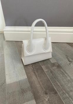 Renkli Mini Çanta Beyaz  ES008
