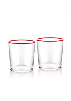 The Mia Su Bardağı 2 Li Set 380 cc Kırmızı