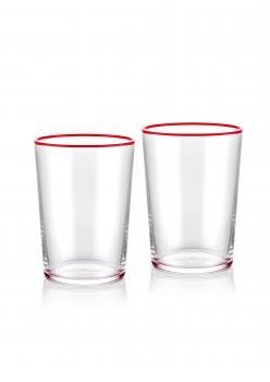 The Mia Su Bardağı 2 Li Set 500 cc Kırmızı