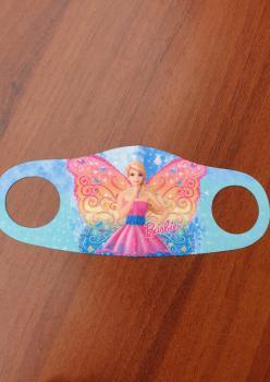 Çocuk Maske Kanatlı Barbie Desenli