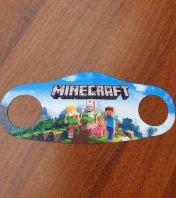 Çocuk Maske Minecraft Desen