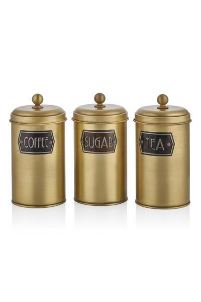 The Mia Çay Şeker Kahve Kavanozu - Gold Model 2 satın al