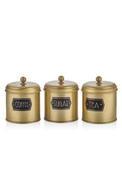 The Mia Çay Şeker Kahve Kavanozu - Gold satın al