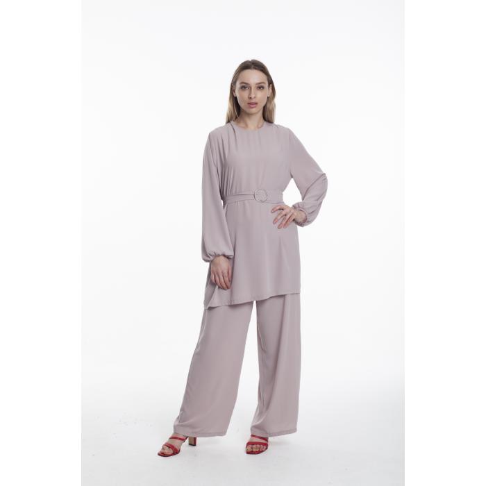 Bluz Takım vizon takım tunık pantolon tesettür