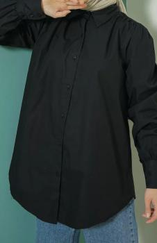 Siyah Bayan Tunik Gömlek