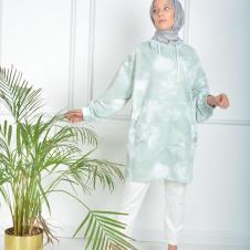 İkili Tunik Takım Yeşil Desen