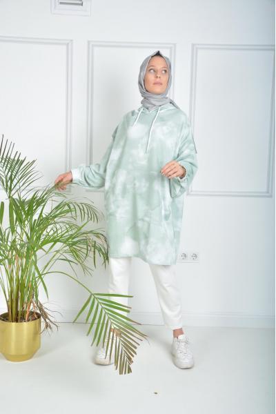 İkili Tunik Takım Yeşil Desen satın al