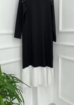 Siyah Pilise Elbise ÖB003