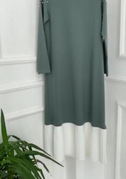 Su Yeşili Pilise Elbise ÖB002