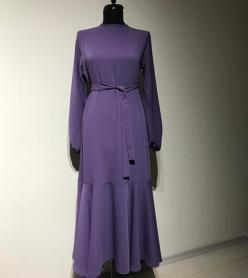 Lavanta Volan Elbise