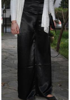 Cember Siyah Saten Bol Pantolon 50501