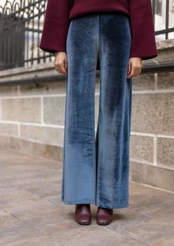 Cember Gri Kadife Pantolon 50101