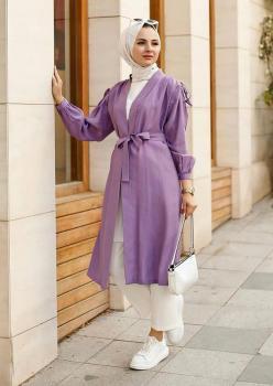 Lila Renk Bayan Kimono
