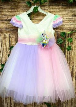 Poni Tütülü Kız Çocuk Elbise 002