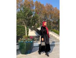 Siyah Kadife Elbise