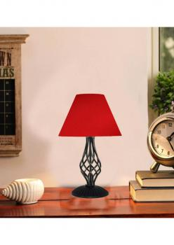 modern Metal Abajur Kırmızı/siyah endustrıyel tasarım-konik