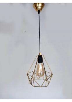 Serenity gold/siyah Elmas Tekli Sarkıt Avize gold-elmas-tekli-sarkıt