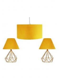 Serenity sarı baslık piramit gold renk metal kafes ayaklı abajur/yatak Odası Aydınlatma Seti Siyah/gold Kaplama