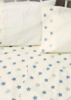 Bebek Nevresim Takımı Beyaz ve Yıldızlı