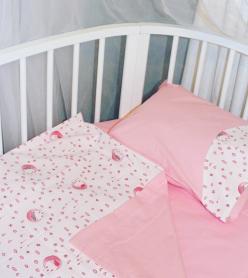 Bebek Nevresim Takımı Minik Koyun Desenli