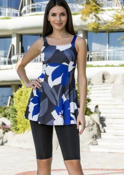 Armes Likralı Taytlı Elbise Mayo - DESENLİ