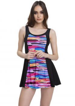 Armes Renkler Elbise Mayo - SİYAH