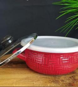 Emaye Kırmızı Pişir Sakla