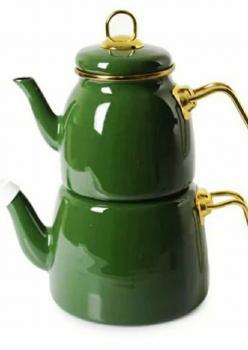 Emaye Green Çaydanlik