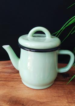Mint Yeşili Emaye Demlik (Az Defolu Ürün)