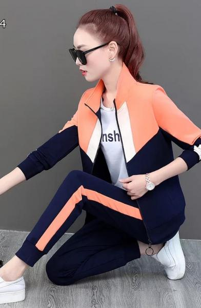 Bloglu Yanı Şeritli İkili Eşofman Takımı (Orange) satın al