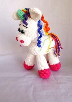Amigurumi Yıkanabilir Organik Sağlıklı Sevimli Unicorn Oyuncak