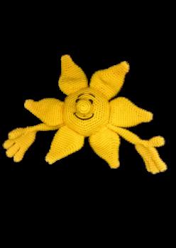 Amigurumi yıkanabilir organik sevimli el örmesi güneş karkteri