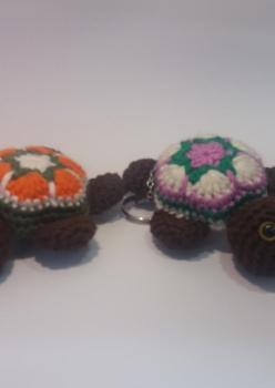 Amigurumi Yıkanabilir Sağlıklı Kaplumbağa Anahtarlık