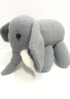 Amigurumi organik yikanabilir sağlıklı oyuncak fil