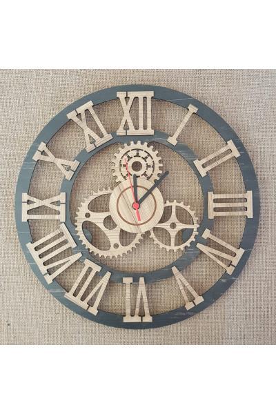 Meleğim 50 cm Ahşap Duvar Saati 1 satın al