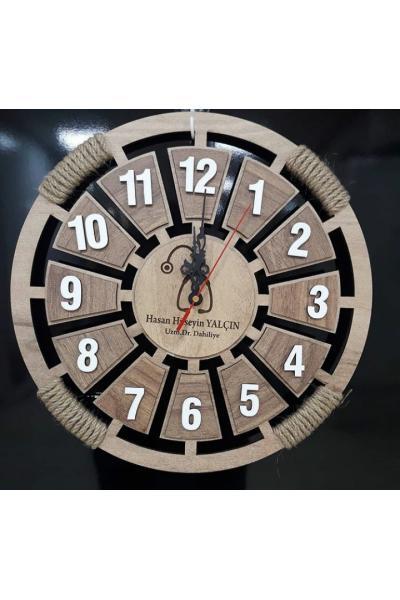 Meleğim 50 cm Ahşap Duvar Saati 5 satın al