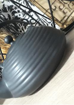 Siyah Süzgeçli Bitki Çayı Demliği