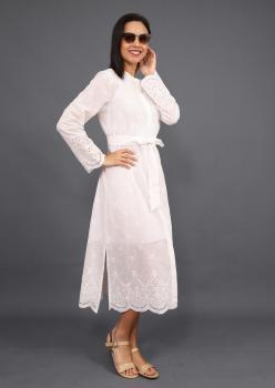 Beyaz Kimono Elbise